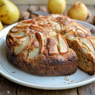 Thrifty & Organic November: Pear & Walnut Cake, Sausage Cabbage Rolls and Celeriac Gratin
