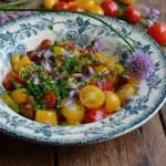 Heirloom Tomato & Chive Flower Salad