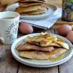Cappuccino Pancakes with Bananas