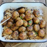 Oven Roasted Herb Crusted New Potatoes