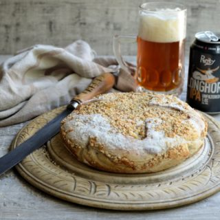 Beer and Cheese Bread in a Crock