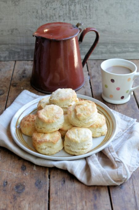 Light and Flaky Buttermilk Biscuits with Southern Style Sausage Gravy - These fabulous Biscuits are perfect with creamy sausage gravy for breakfast & brunch or for Cast Iron Casseroles.