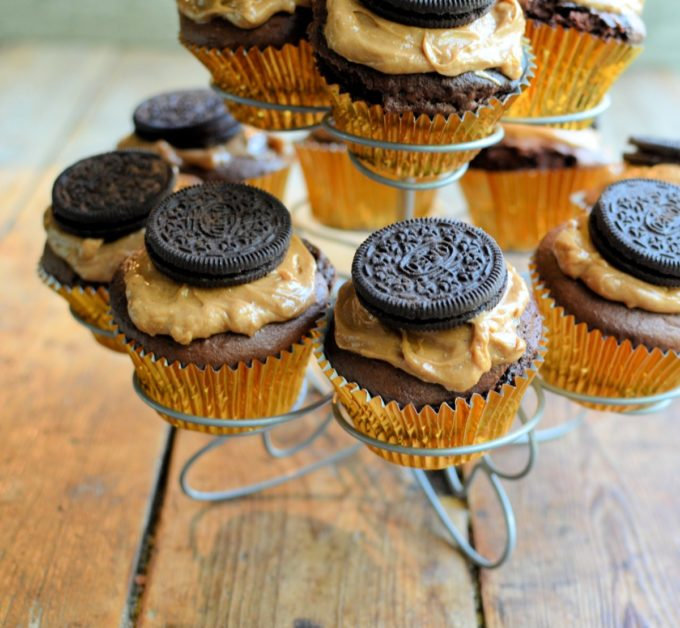 The peanut butter Oreo is a tasty chocolatey sandwich biscuit filled with a creamy peanut flavour centre