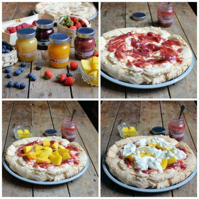Fruit Pavlova collage 1