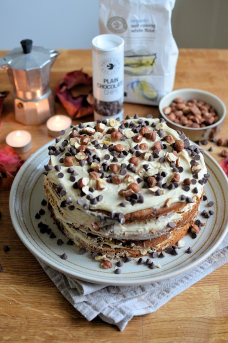 Hazelnut & Chocolate Chip Cappuccino Cake