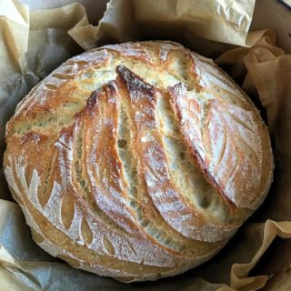 My recipe for classic sourdough bread which is a winner every time I bake it; and it can be proved overnight in a cool place for early morning baking.
