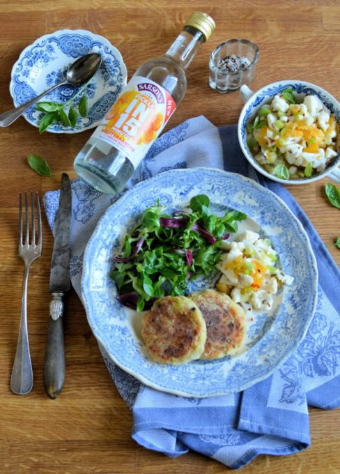 Turkey Hash Cakes and Quick Pickle