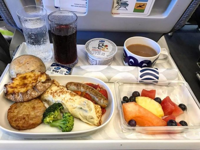Finnair Nordic Buisness Class Breakfast
