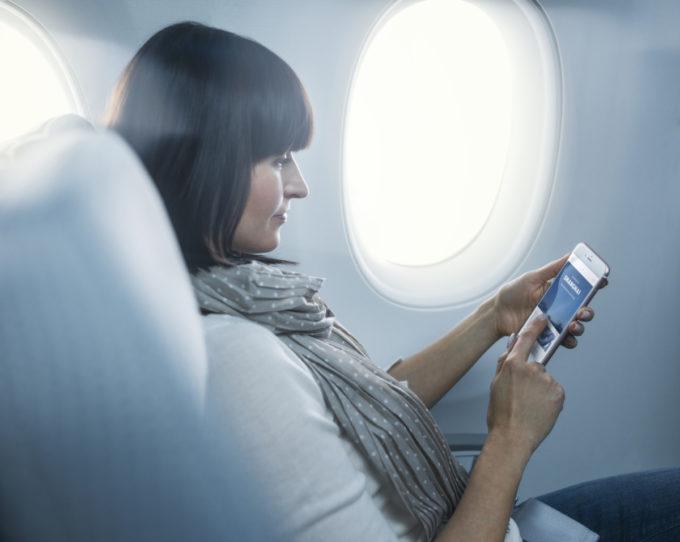 Finnair A350 economy class cabin, wifi portal_1