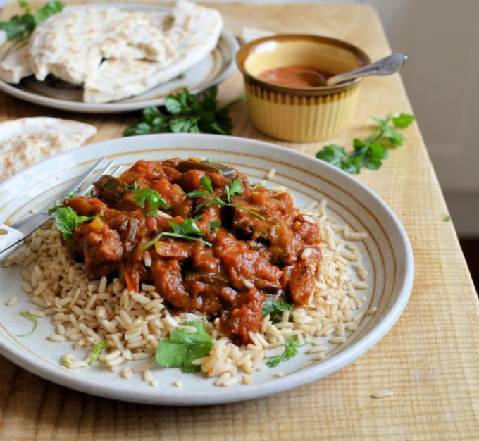 Aubergine and Tomato Curry (