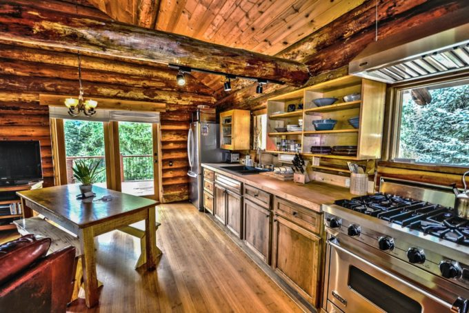 Holiday Cottage Cabin Kitchen