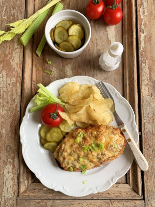 Piquant Tuna Melt with Smoked Cheese