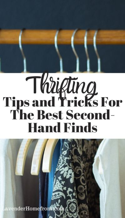 Thrifting tips and tricks pinnable image
