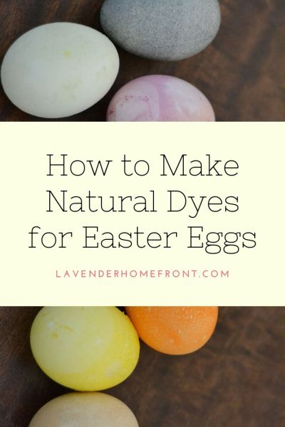 homemade and natural easter egg dye