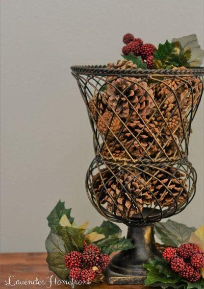 holiday scented cinnamon pinecones