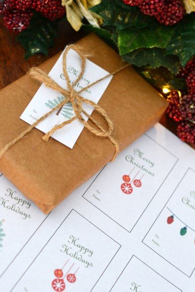 holiday gift tags for your vintage farmhouse Christmas gifts