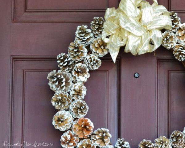 easy to make pinecone wreath for christmas