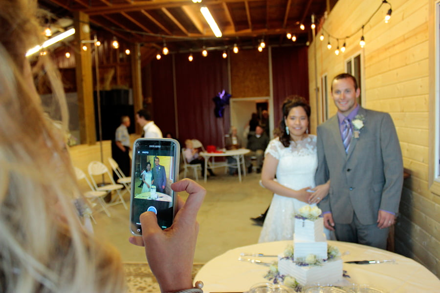 Photographing Bride and Groom