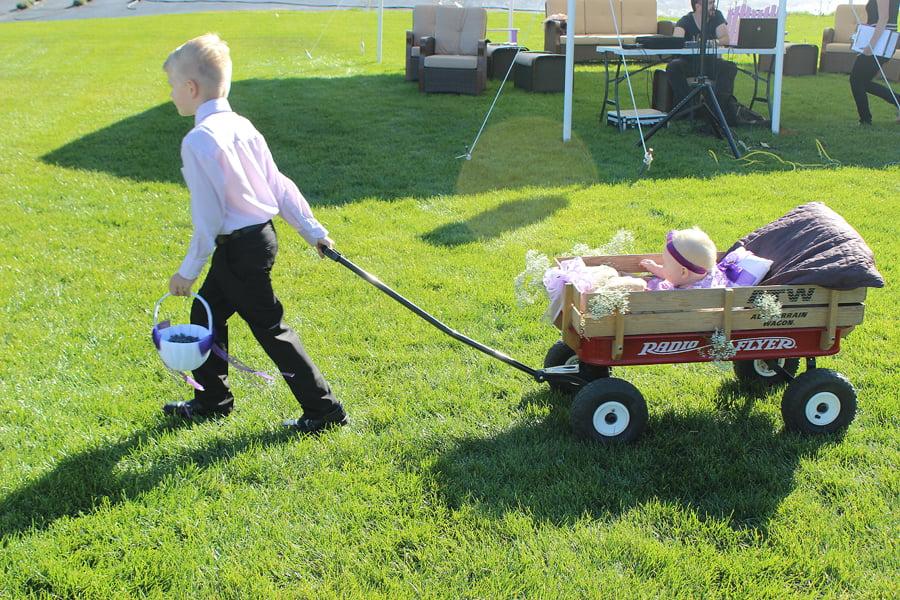 Ring Bearer Pulling Wagon for Flower Girl