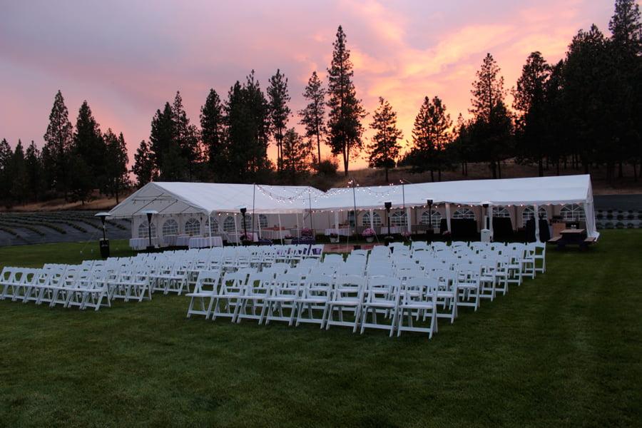 Wedding Venue At Sunset