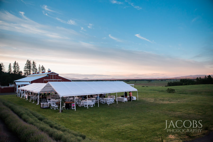 Wedding Venue Before Sunset