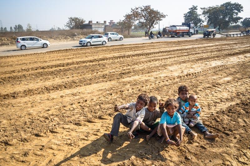 villaggio povero india nomadi