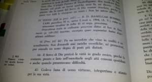 Testimonianza di don Amilcare Bombeccari contenuta nella Positio super Virtutibus di don Vincenzo Grossi