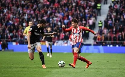 Gameiro abrió el marcador ante el Athletic. Foto: RUBÉN DE LA FUENTE