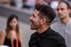 Simeone arrancando la pretemporada en el Metropolitano. Foto: Rubén de la Fuente