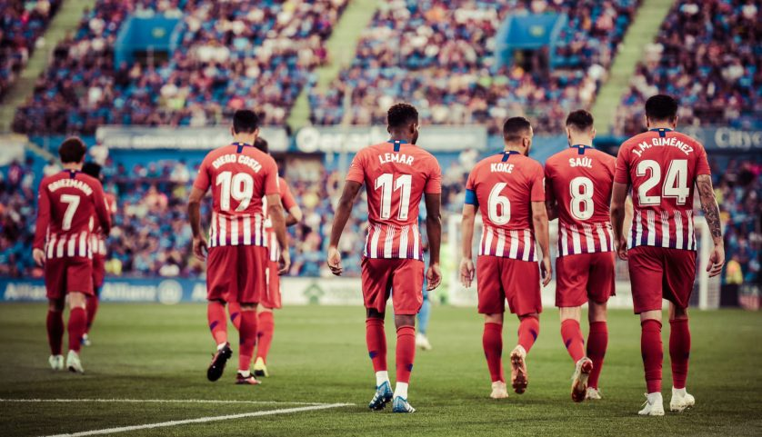 El equipo regresa tras el primer gol de Lemar ante el Getafe. Foto: Rubén de la Fuente