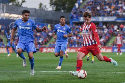 Griezmann chutando a puerta en el partido frente al Getafe. Foto: Rubén de la Fuente