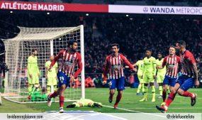 Diego Costa celebra el uno a cero frente al Barcelona. Foto: Rubén de la Fuente