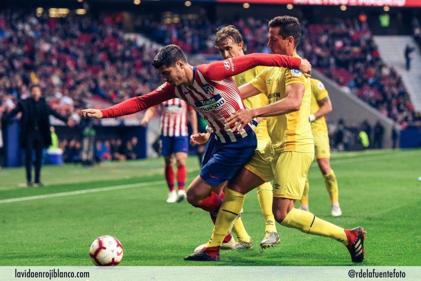 Morata estuvo muy activo durante toda la noche en el frente de ataque. Foto: Rubén de la Fuente