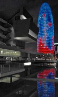 Museu de Disseny (Design) and Torre Agbar
