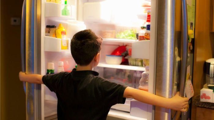 ahorro de energía eléctrica no abriendo el refrigerador