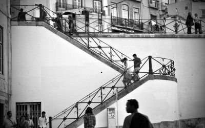 L'escalier blanc