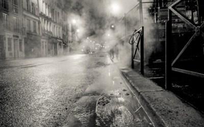 Steam and rain