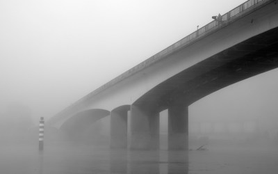 Brume sur le Rhône