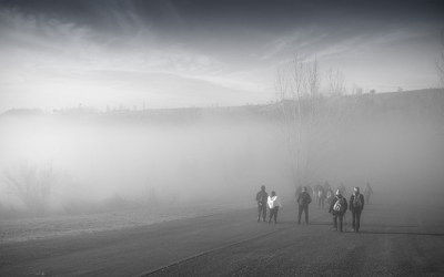 La brume matinale !