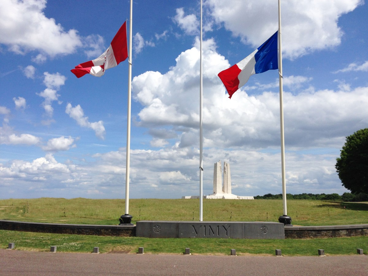 Visite du mémorial Canadien de Vimy