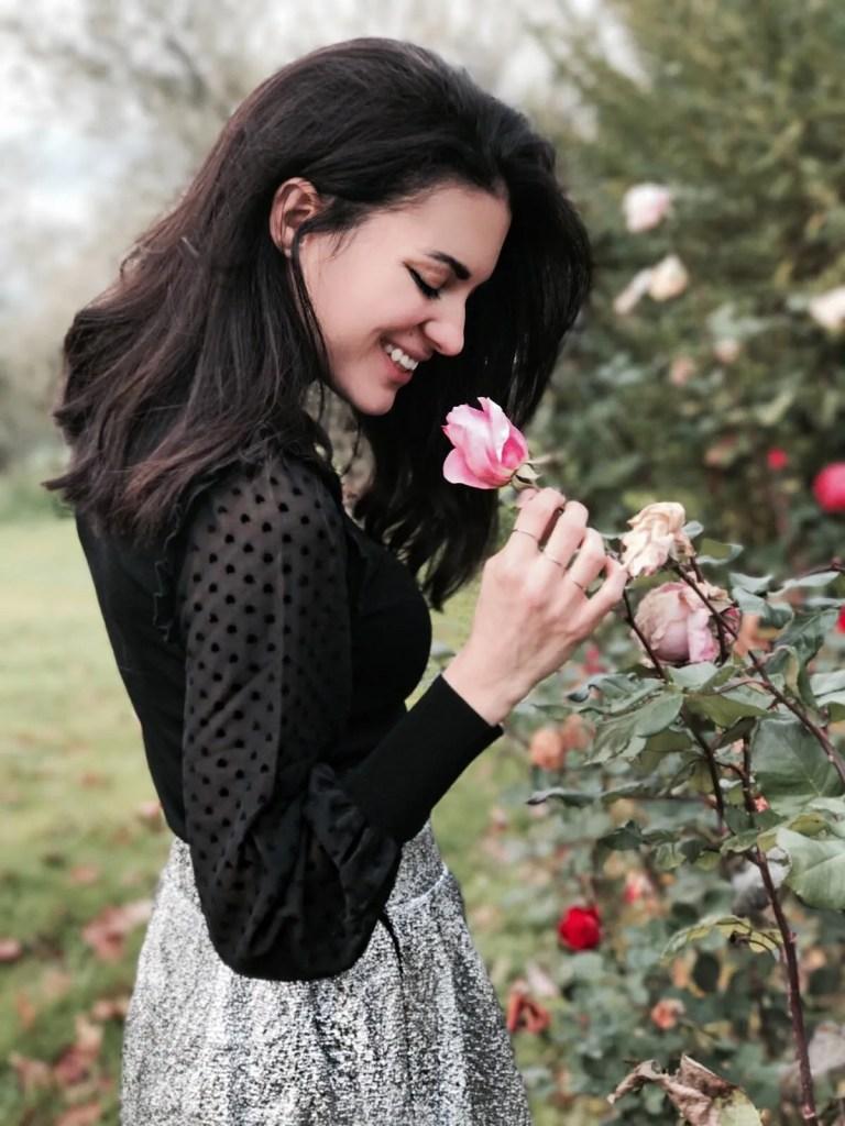 La bella Lavinia Guglielman con una Rosa per Zalando