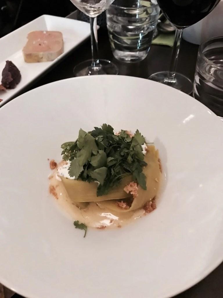 """Piatto del bistrot """"La Degustation"""" di Parigi"""