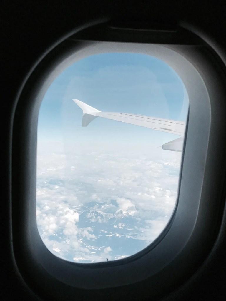 Vista dall'aereo in volo da Amsterdam