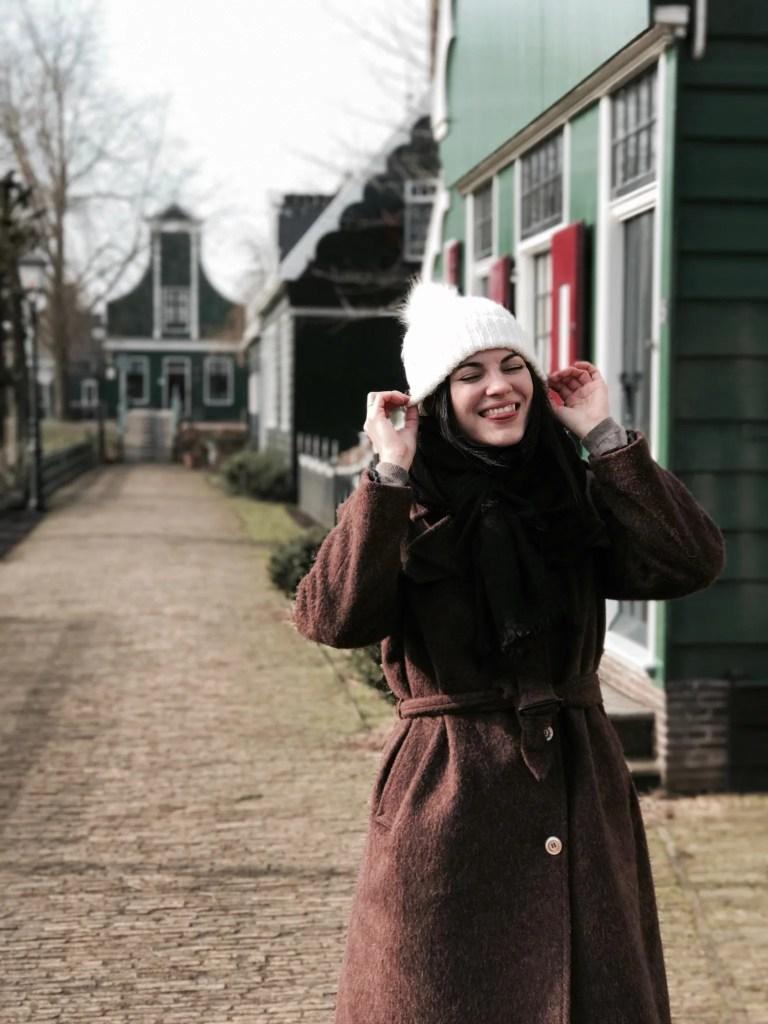Lavinia Guglielman a Zaanse Schans Amsterdam