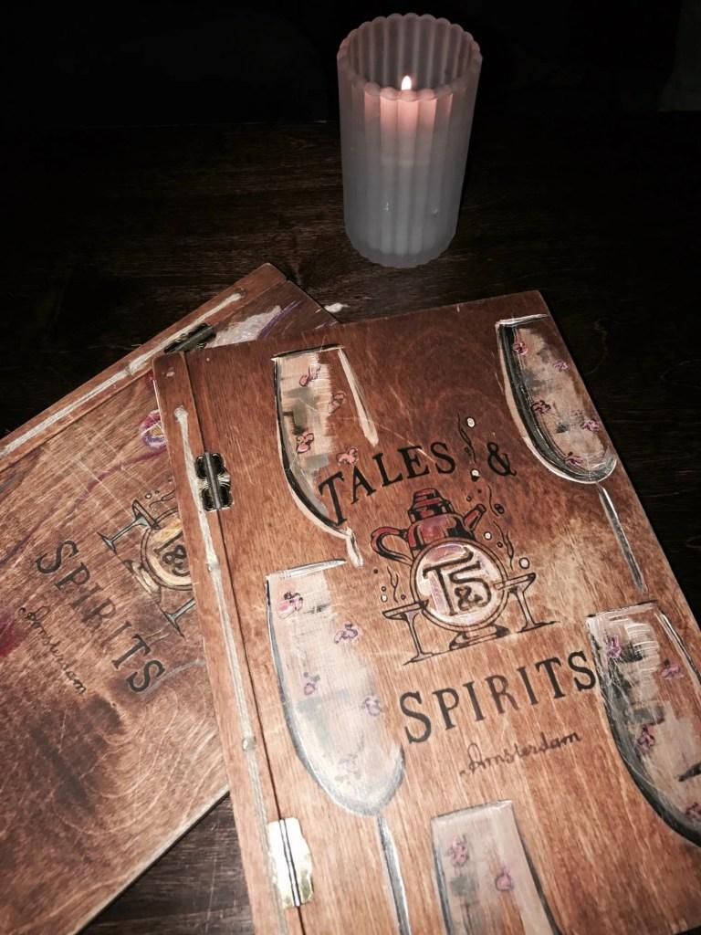 Menu di Tales & Spirits di Amsterdam