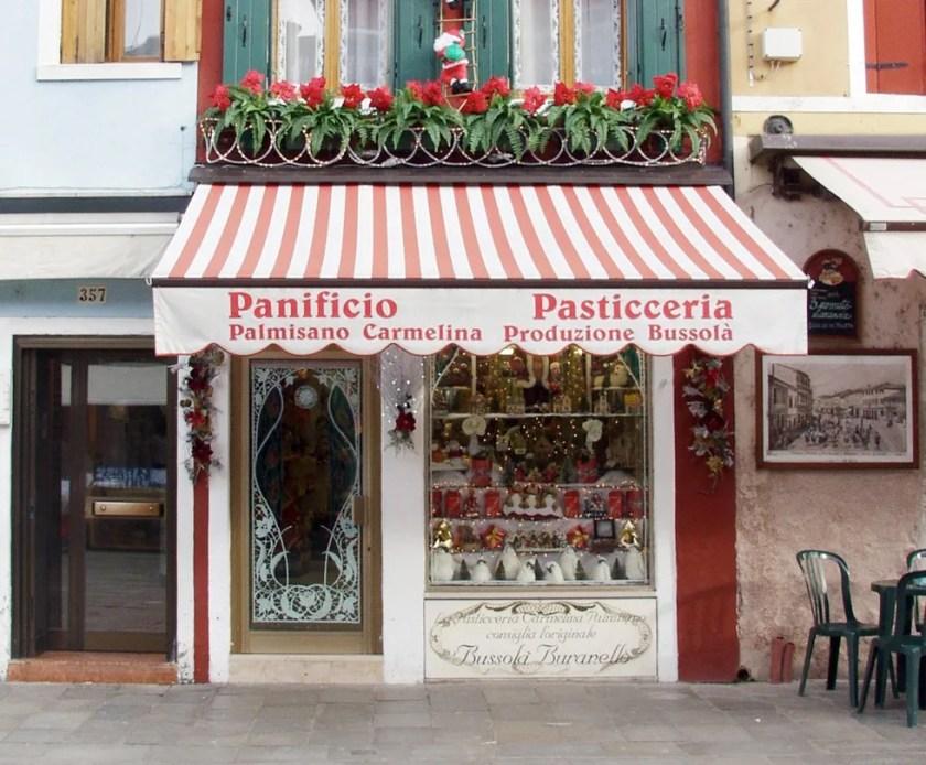 Lo storico negozio di Palmisano a Burano