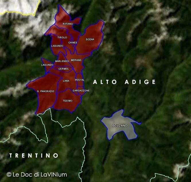 Mappa DOC Alto Adige Meranese