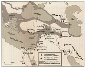 Cartina dell'area caucasica