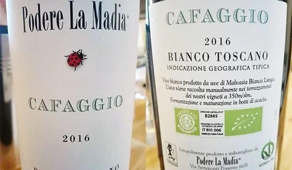 Etichetta vino Cafaggio 2016 Podere La Madia
