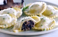 Ravioli alle tre carni e Oltrepò Pavese Buttafuoco frizzante